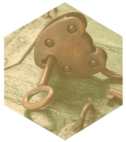 Image of vintage lock and key