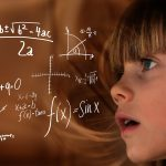girl calculating